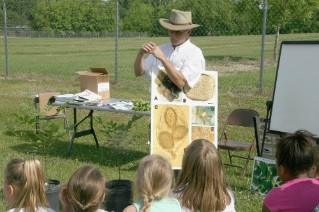 Tim Brenneman speaks about pecans during Ag and Environmental Awareness Day.