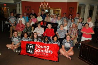 UGA Tifton Campus 2016 Young Scholars participants visited Tifton's Maple Court residents